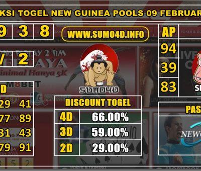 PREDIKSI TOGEL NEW GUINEA POOLS 09 FEBRUARY 2020