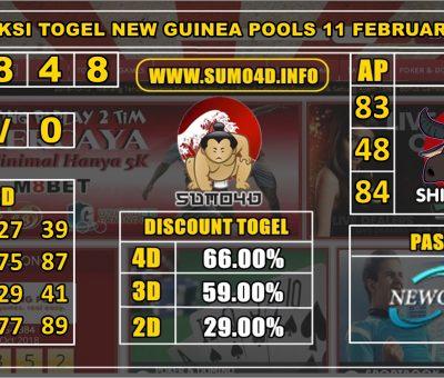 PREDIKSI TOGEL NEW GUINEA POOLS 11 FEBRUARY 2020