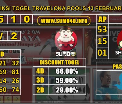 PREDIKSI TOGEL TRAVELOKA POOLS 13 FEBRUARY 2020