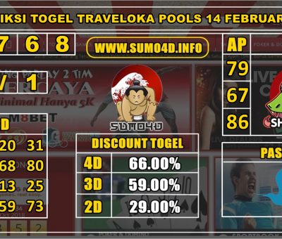 PREDIKSI TOGEL TRAVELOKA POOLS 14 FEBRUARY 2020