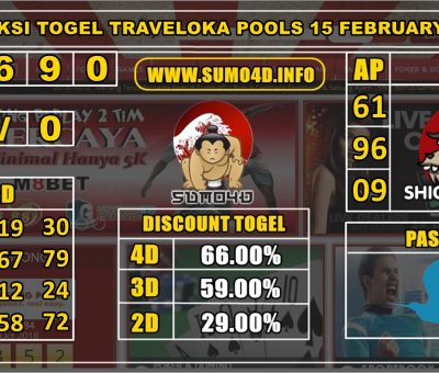 PREDIKSI TOGEL TRAVELOKA POOLS 15 FEBRUARY 2020