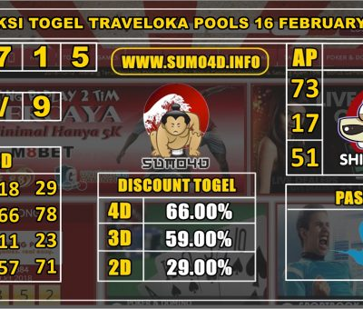 PREDIKSI TOGEL TRAVELOKA POOLS 16 FEBRUARY 2020