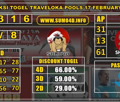 PREDIKSI TOGEL TRAVELOKA POOLS 17 FEBRUARY 2020