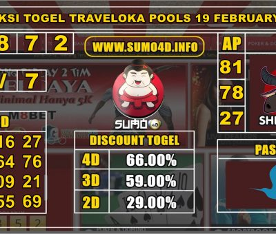 PREDIKSI TOGEL TRAVELOKA POOLS 19 FEBRUARY 2020