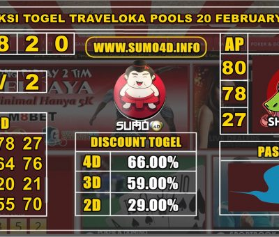 PREDIKSI TOGEL TRAVELOKA POOLS 20 FEBRUARY 2020