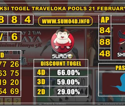PREDIKSI TOGEL TRAVELOKA POOLS 21 FEBRUARY 2020