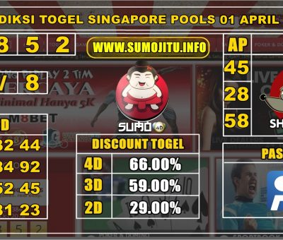 PREDIKSI SINGAPORE POOLS 01 APRIL 2020