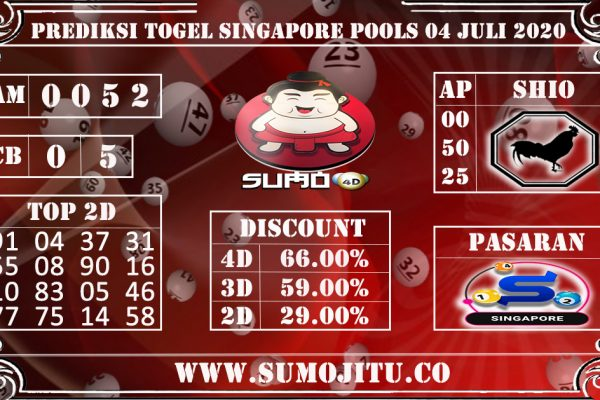 PREDIKSI TOGEL SINGAPORE POOLS 04 JULI 2020