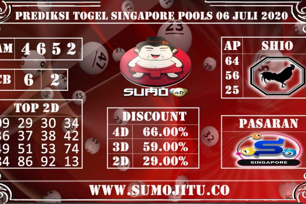 PREDIKSI TOGEL SINGAPORE POOLS 06 JULI 2020