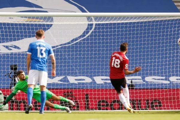 Man United Menang Dramatis atas Brighton Bruno Fernandes Terkadang Butuh Keberuntungan