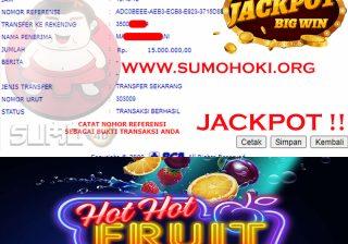 BUKTI JACKPOT SLOT GAMES Rp 15.000.000 MEMBER SUMO4D
