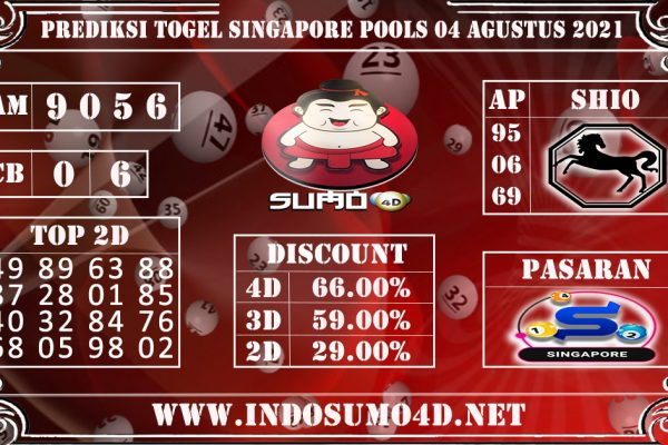 PREDIKSI TOGEL SINGAPORE POOLS 04 AGUSTUS 2021