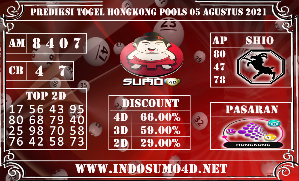 PREDIKSI TOGEL HONGKONG POOLS 05 AGUSTUS 2021